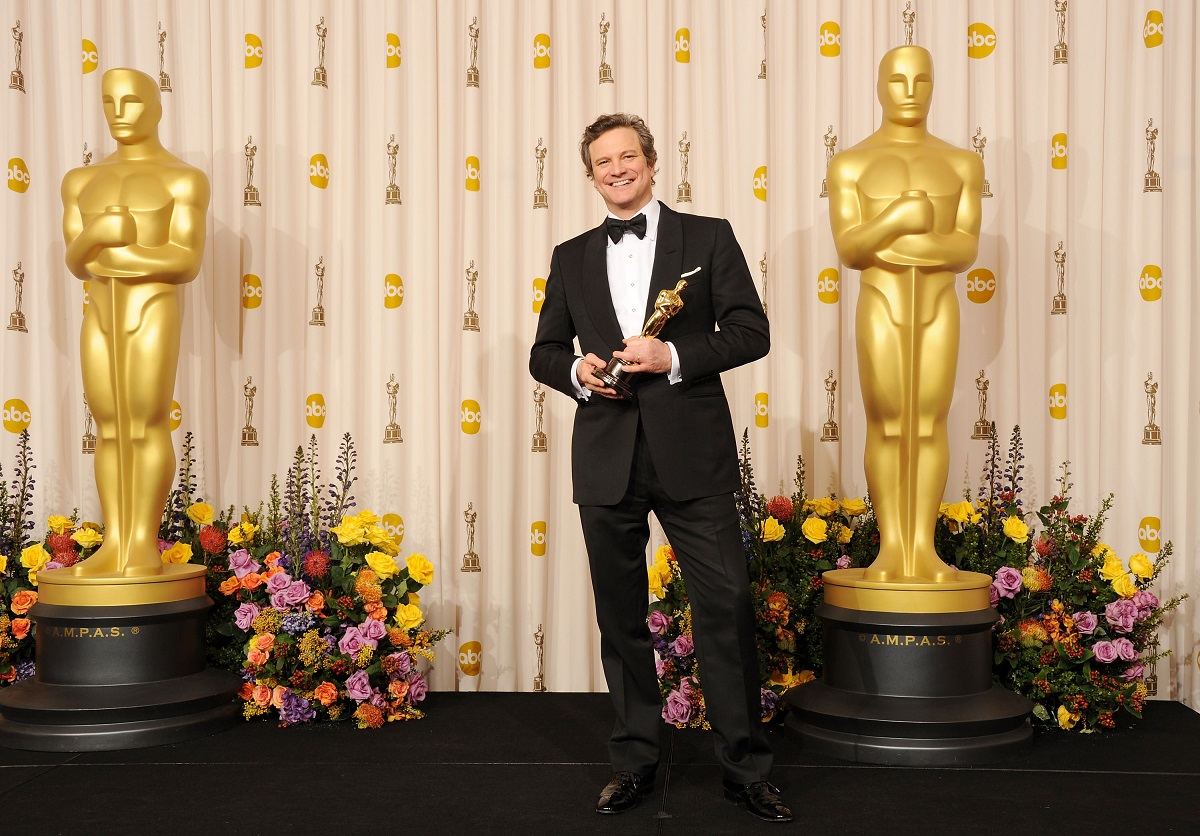 Colin Firth with his Academy Award for Best Actor for 'The King's Speech' in 2011