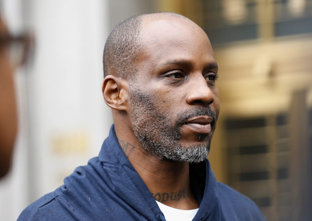 DMX outside of New York courthouse