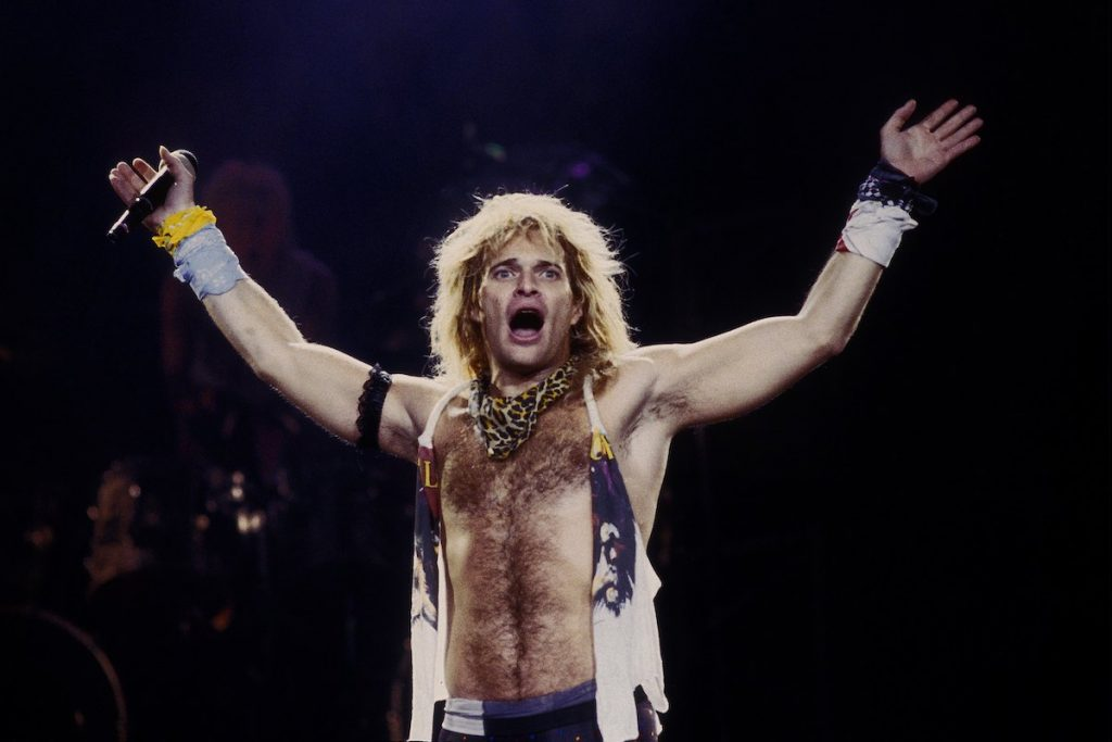 David Lee Roth performing solo at Cal Expo in Sacramento, California, on June 14, 1988