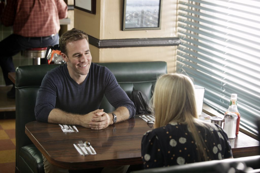 James Van Der Beek and Busy Philipps in 'Dawson's Creek,' Season 1