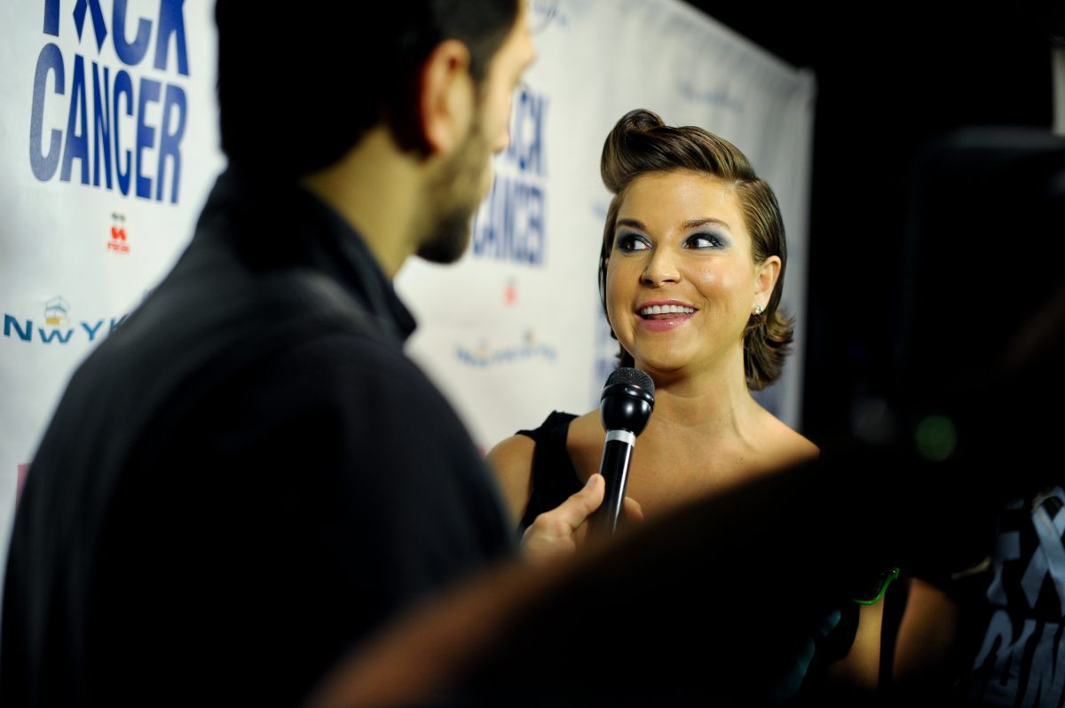 Diem Brown attends the F*ck Cancer benefit at Pacha