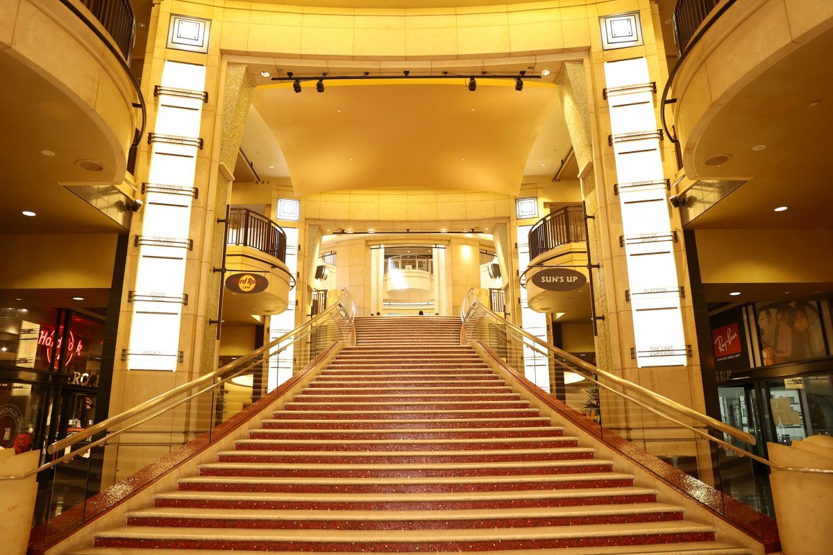 Oscar nominees walk these stairs to the Dolby Theatre
