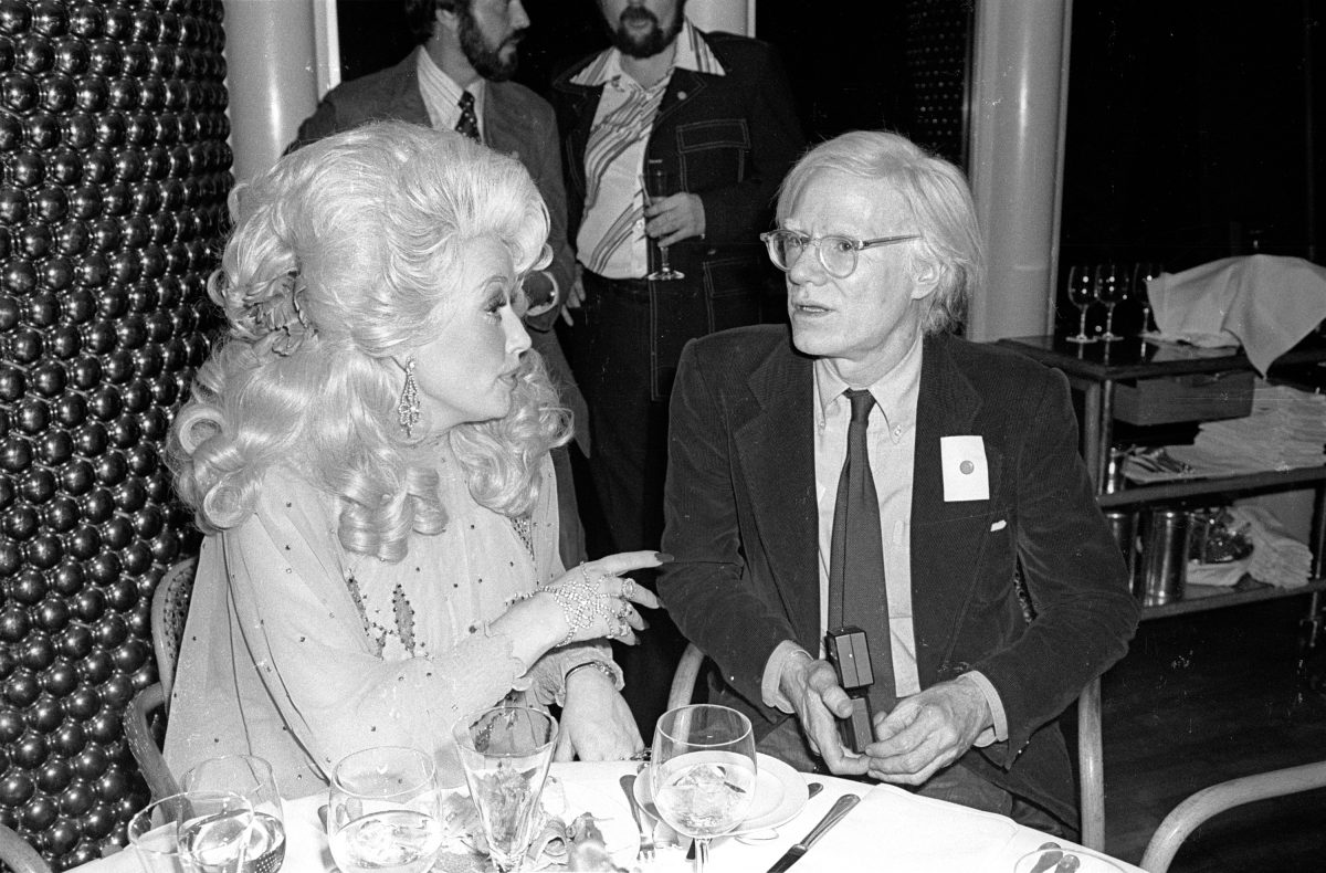 Dolly Parton dining with Andy Warhol at Windows On The World.