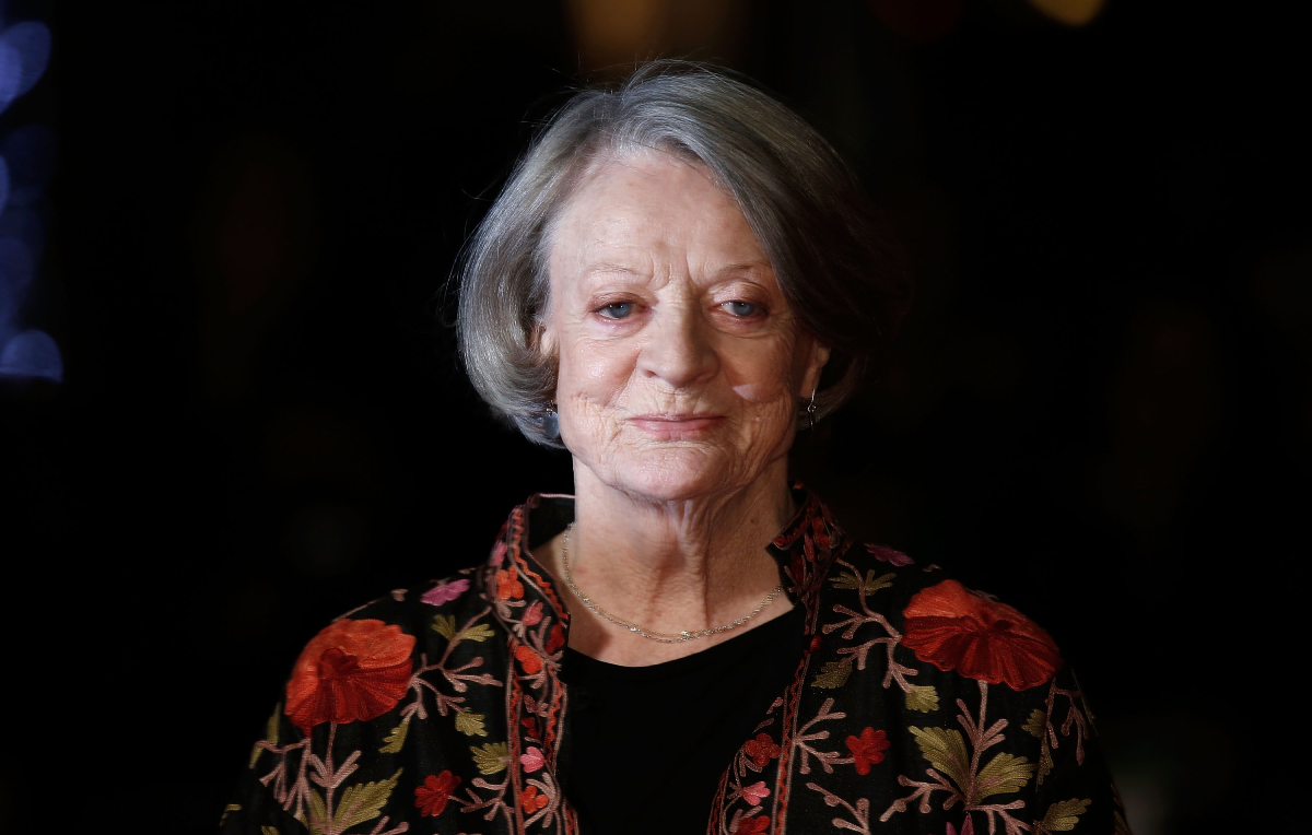 """'Downton Abbey' star Maggie Smith arrives at """"The Lady In The Van"""" - Centrepiece Gala, at Odeon Leicester Square on October 13, 2015"""