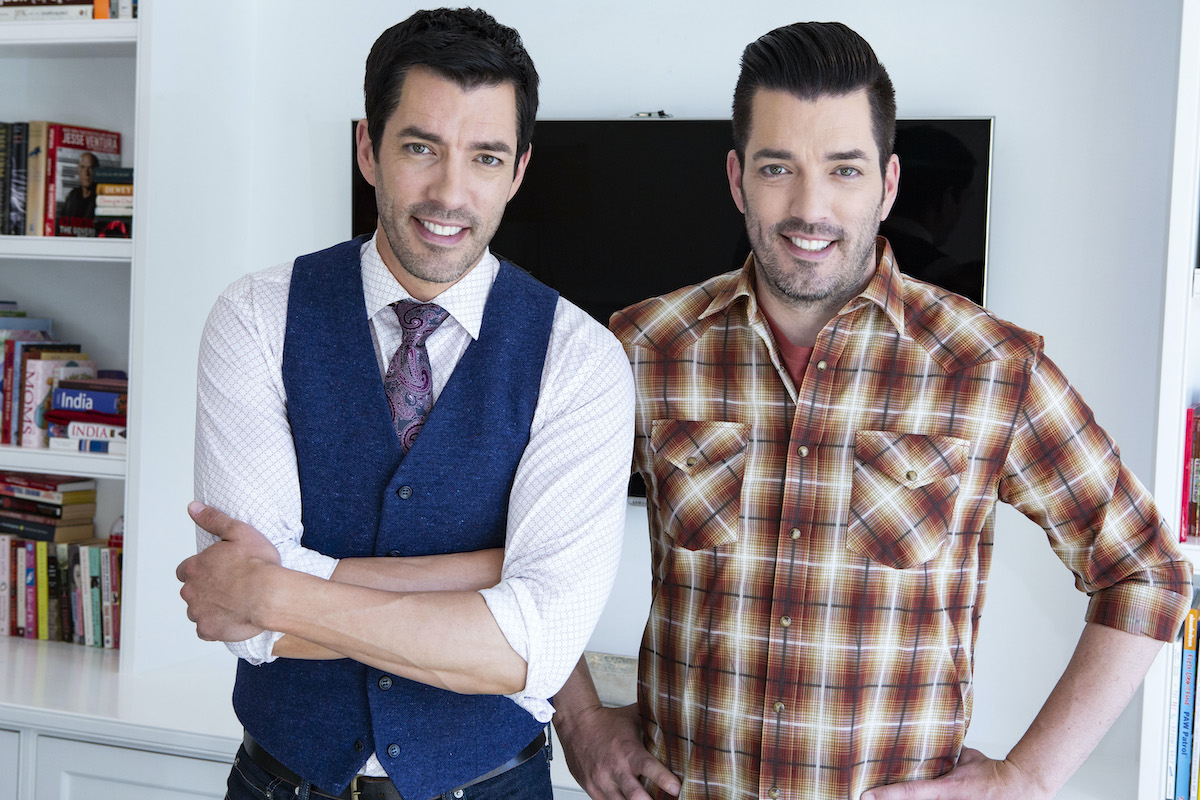 Drew and Jonathan Scott pose for a portrait session in California