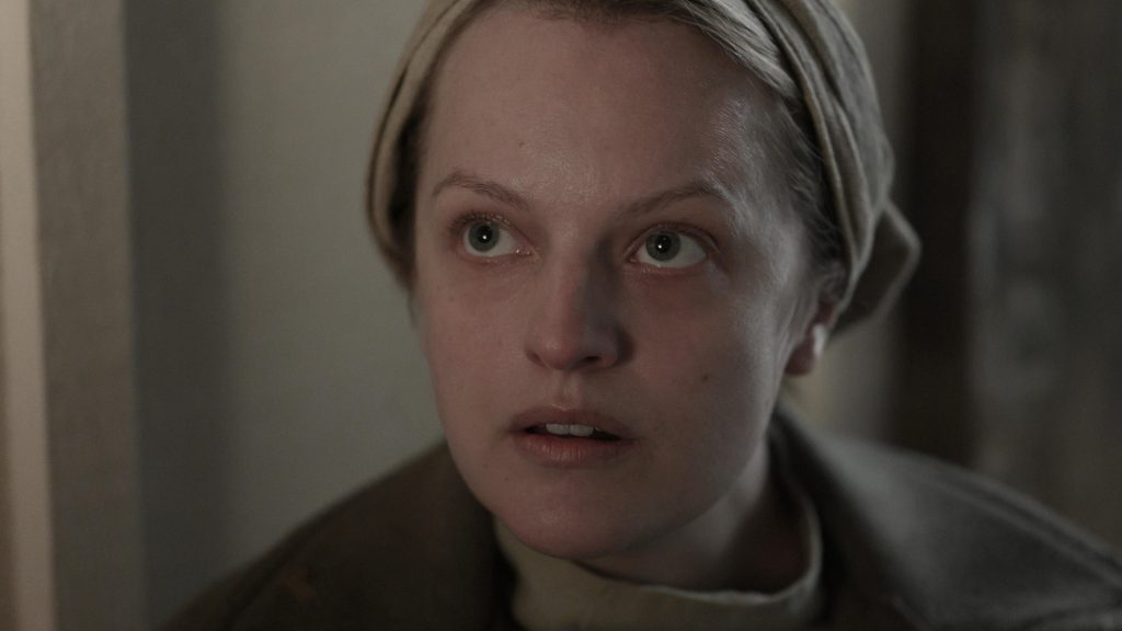 Close-up of Elisabeth Moss as June Osborne in 'The Handmaid's Tale' Season 4 Episode 2, 'Nightshade.'