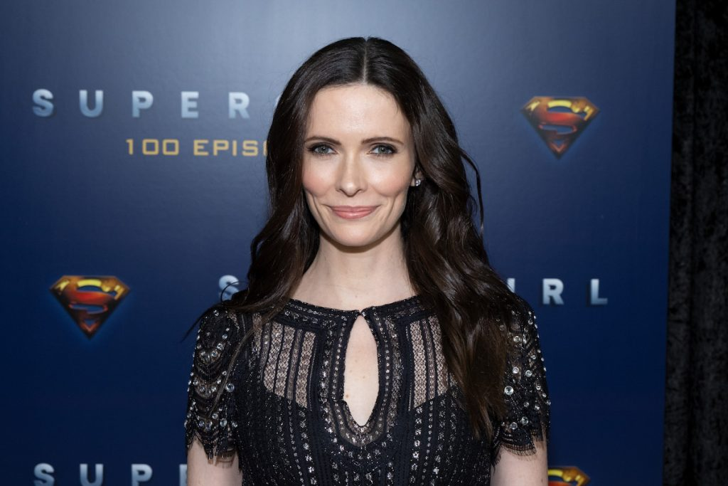 Supergirl recurring guest star Elizabeth Tulloch attends the red carpet for the shows 100th episode celebration at the Fairmont Pacific Rim Hotel on December 14, 2019 in Vancouver, Canada.