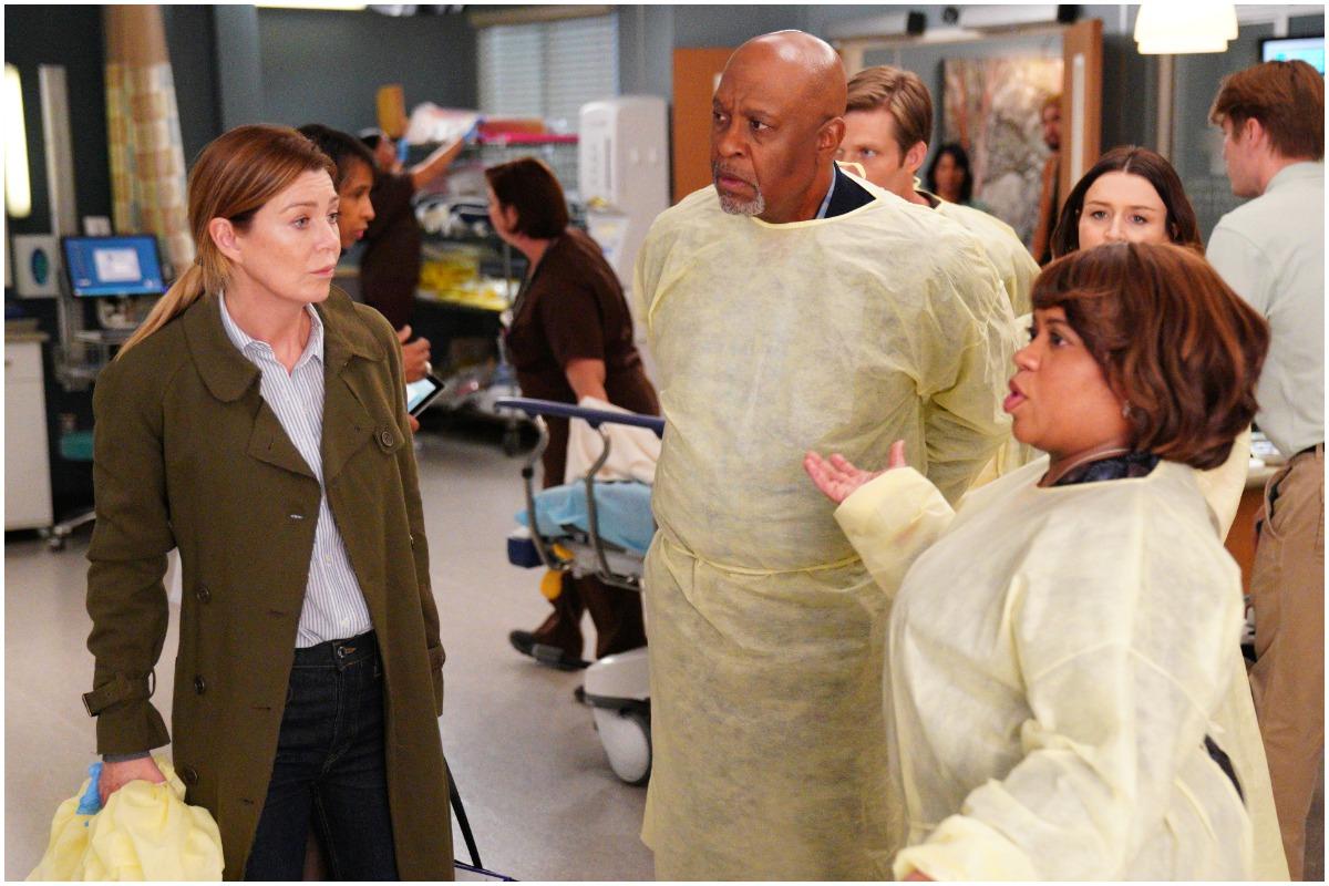 Ellen Pompeo, James Pickens, Jr, and Chandra Wilson on Grey's Anatomy