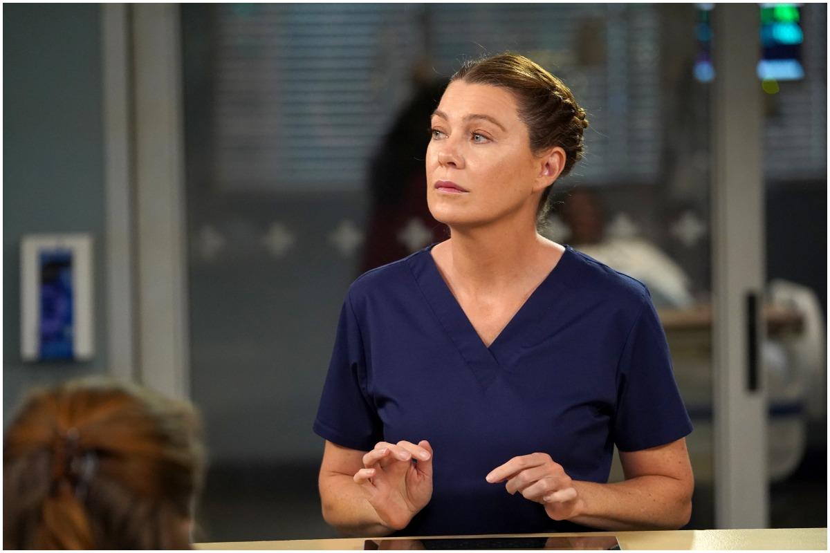 Ellen Pompeo as Meredith Grey on the set of 'Grey's Anatomy'