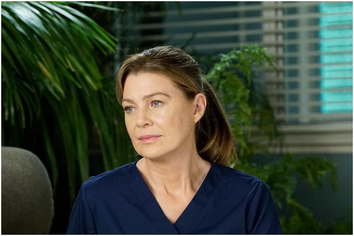 Ellen Pompeo on the set of 'Grey's Anatomy'