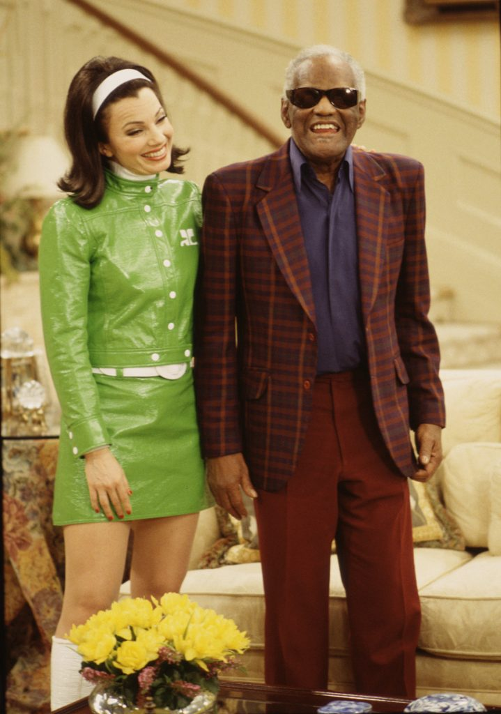 Fran Drescher and Ray Charles in The Nanny.jpg