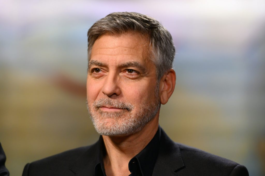 George Clooney looking off to the left