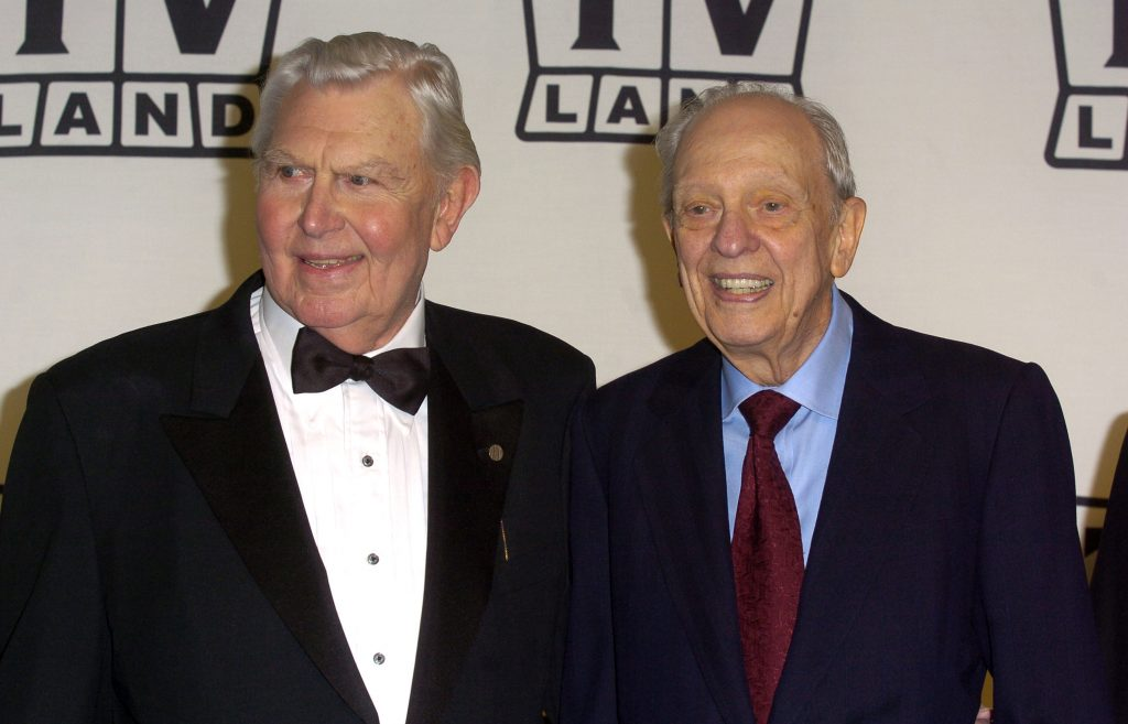 Andy Griffith and Don Knotts at the 2nd Annual TV Land Awards, 2004