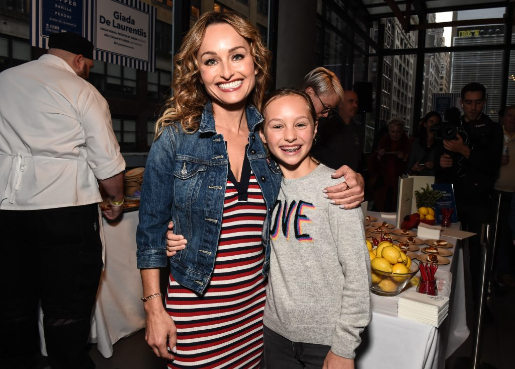 Celebrity chef Giada De Laurentiis and her daughter Jade pose for a photo in 2019