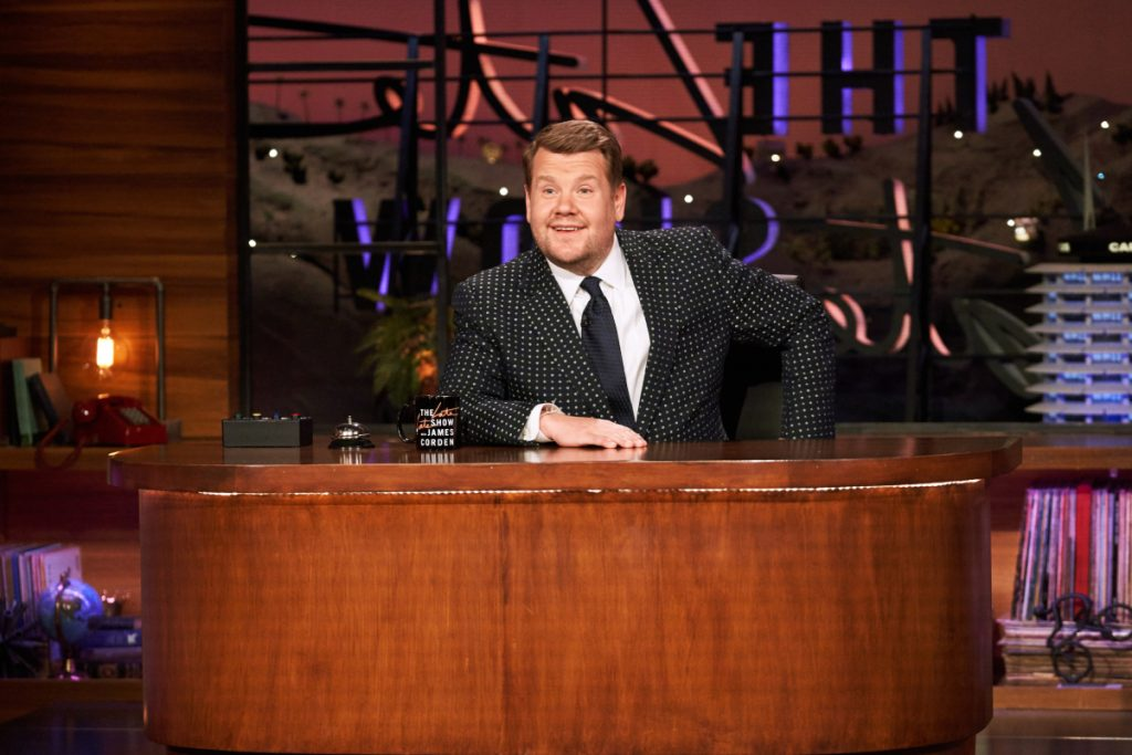 James Corden chats with guests on The Late Late Show With James Corden, March 2021