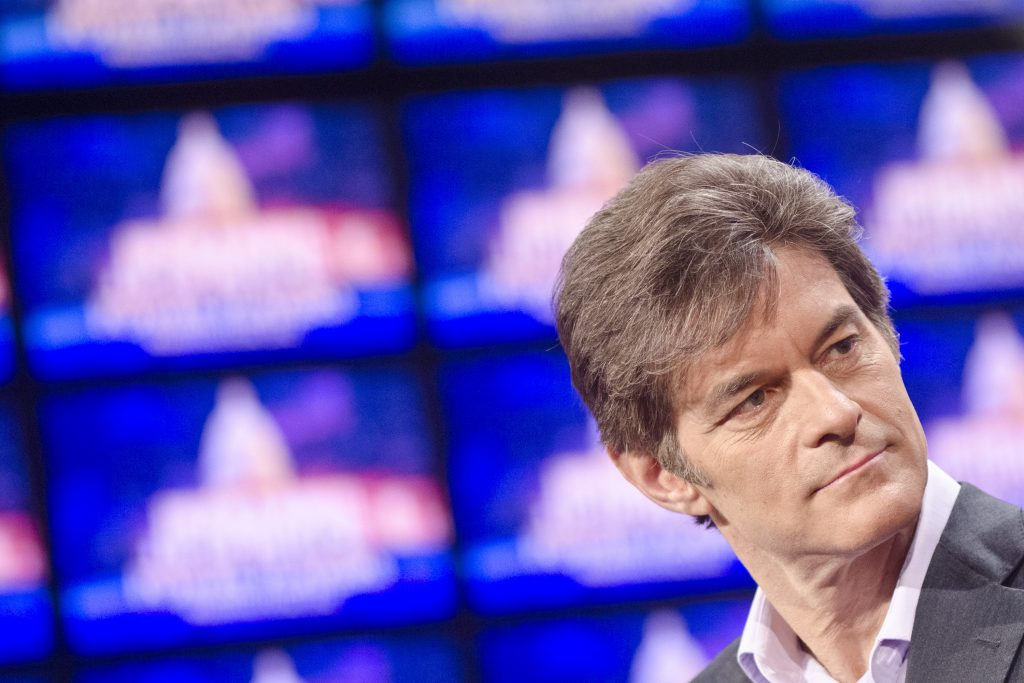 Dr. Mehmet Oz speaks during a rehearsal before a taping of  'Jeopardy!' Power Players Week at DAR Constitution Hall in 2012 in Washington, DC.