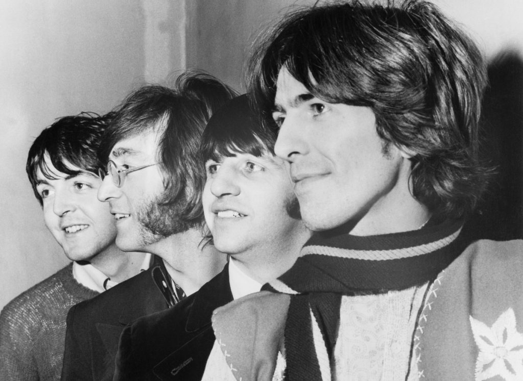 The Beatles pose for a photo in the 1960s. (L to R): Paul McCartney, John Lennon, Ringo Starr, and George Harrison
