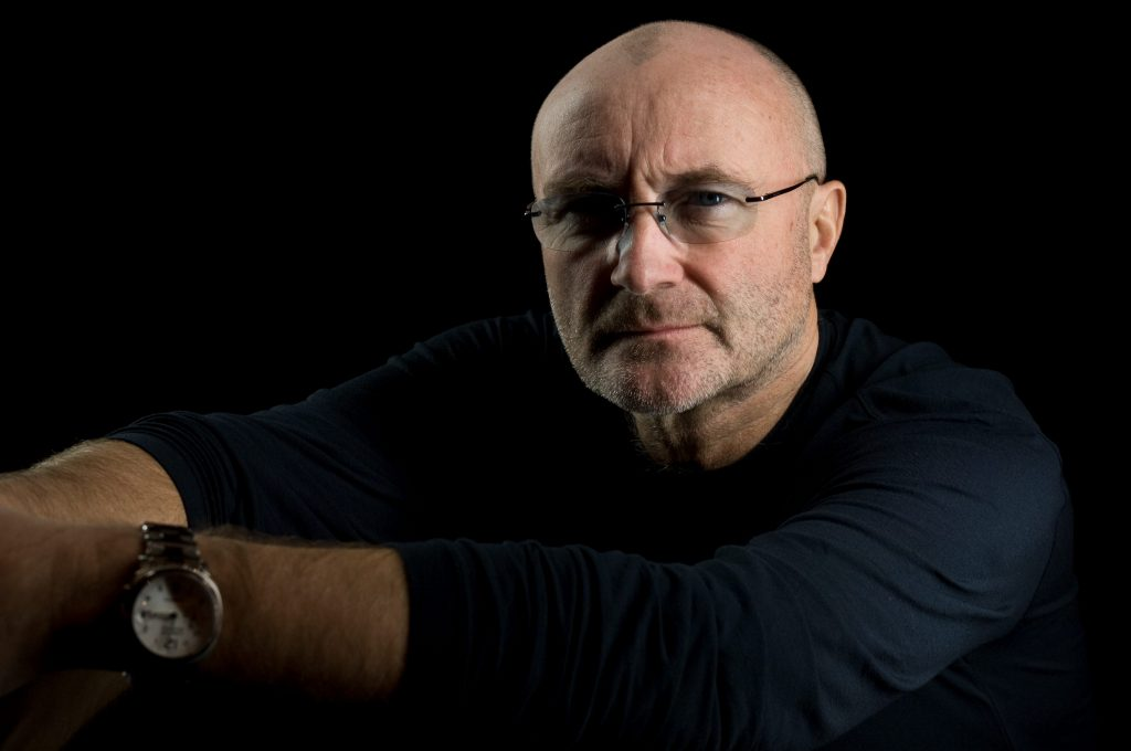 Musician Phil Collins poses for a photo
