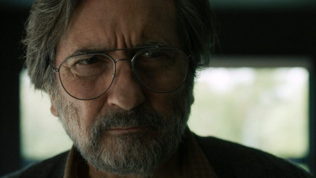 Griffin Dunne as Nicky on 'This Is Us' frowning into the camera