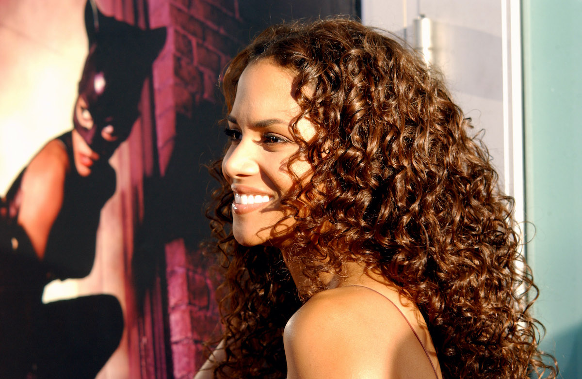 Halle Berry at the 'Catwoman' premiere on the red carpet