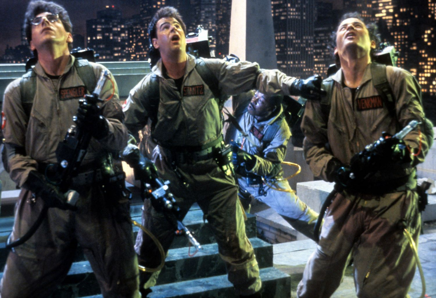 Harold Ramis, Dan Akroyd, and Bill Murray in 'Ghostbusters'