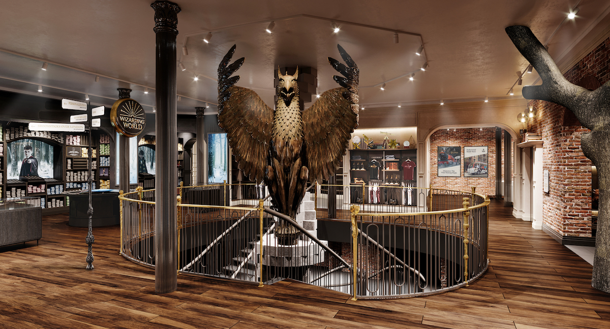 Atrium of the Harry Potter New York store