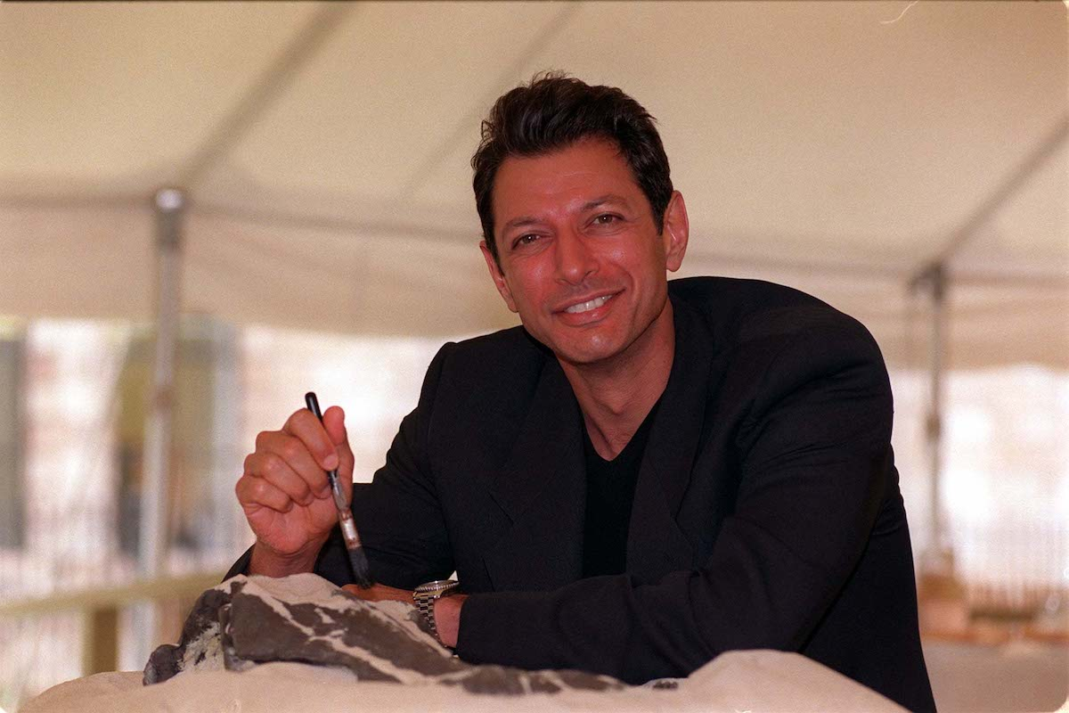 'Jurassic Park' star Jeff Goldblum poses at a photocall for the opening of 'Dinosaur Dig' at the Natural History Museum
