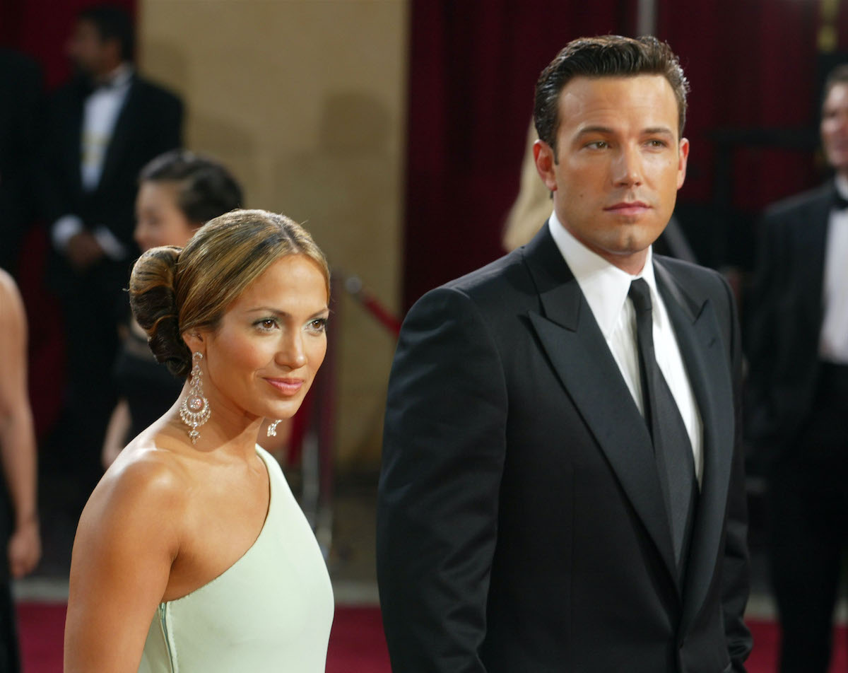 Ben Affleck and Jennifer Lopez attend the 75th Annual Academy Awards in 2003