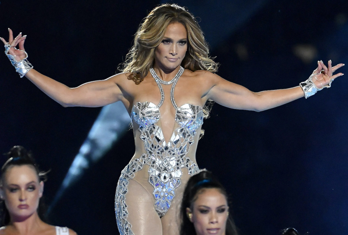 Jennifer Lopez performs onstage during the Pepsi Super Bowl LIV Halftime Show at Hard Rock Stadium in Miami in 2020