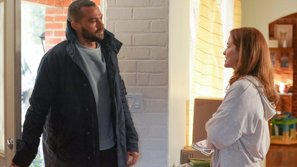 Jesse Williams as Jackson Avery and Sarah Drew as April Kepner together again in 'Grey's Anatomy' Season 17 Episode 14