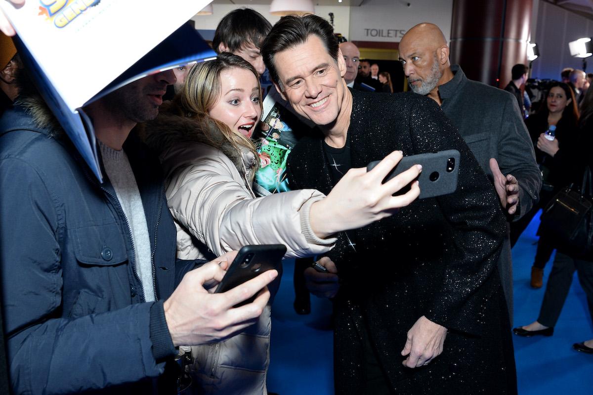 Jim Carrey attends the 'Sonic the Hedgehog' London fan screening in London in 2020