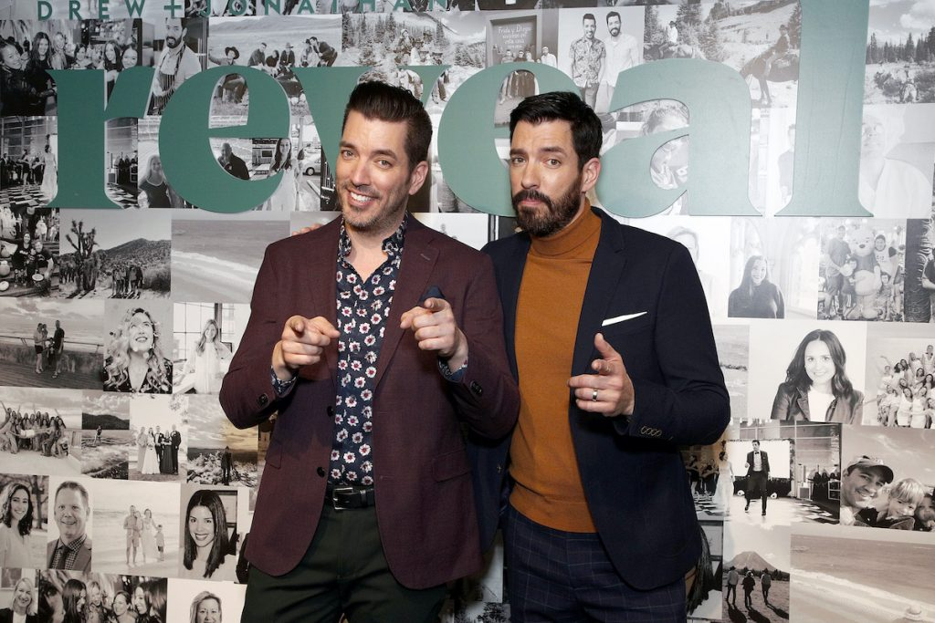 'Property brothers' stars Jonathan and Drew Scott in New York City in 2020