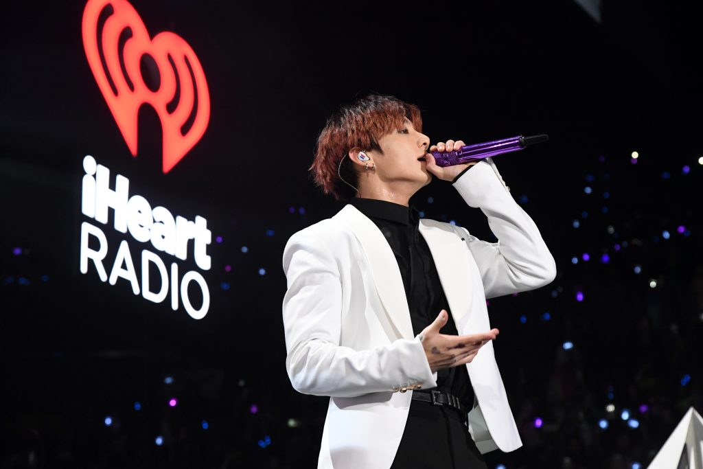 Jungkook of BTS performs on stage during 102.7 KIIS FM's Jingle Ball 2019