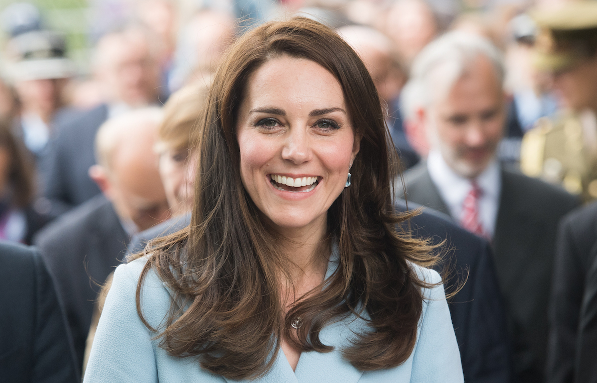 Kate Middleton smiles outside the City Museum on May 11, 2017 in Luxembourg