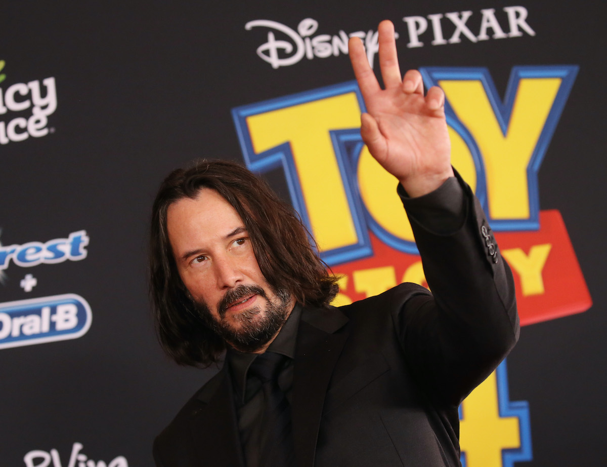 Keanu Reeves arrives at the Los Angeles premiere of 'Toy Story 4'