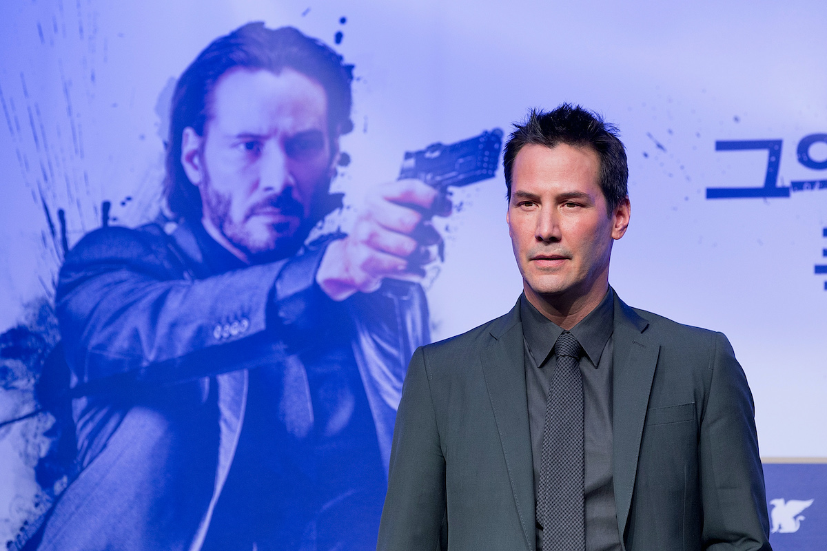 Keanu Reeves attends the 'John Wick' press conference in in Seoul, South Korea in 2015