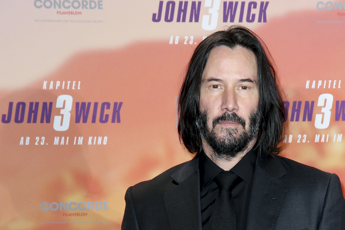 Keanu Reeves poses at the 'John Wick: Chapter 3 — Parabellum' photocall in Berlin