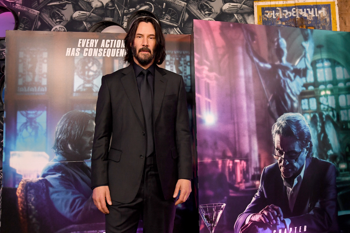 Keanu Reeves attends the 'John Wick: Chapter 3 — Parabellum' special screenings in London in 2019