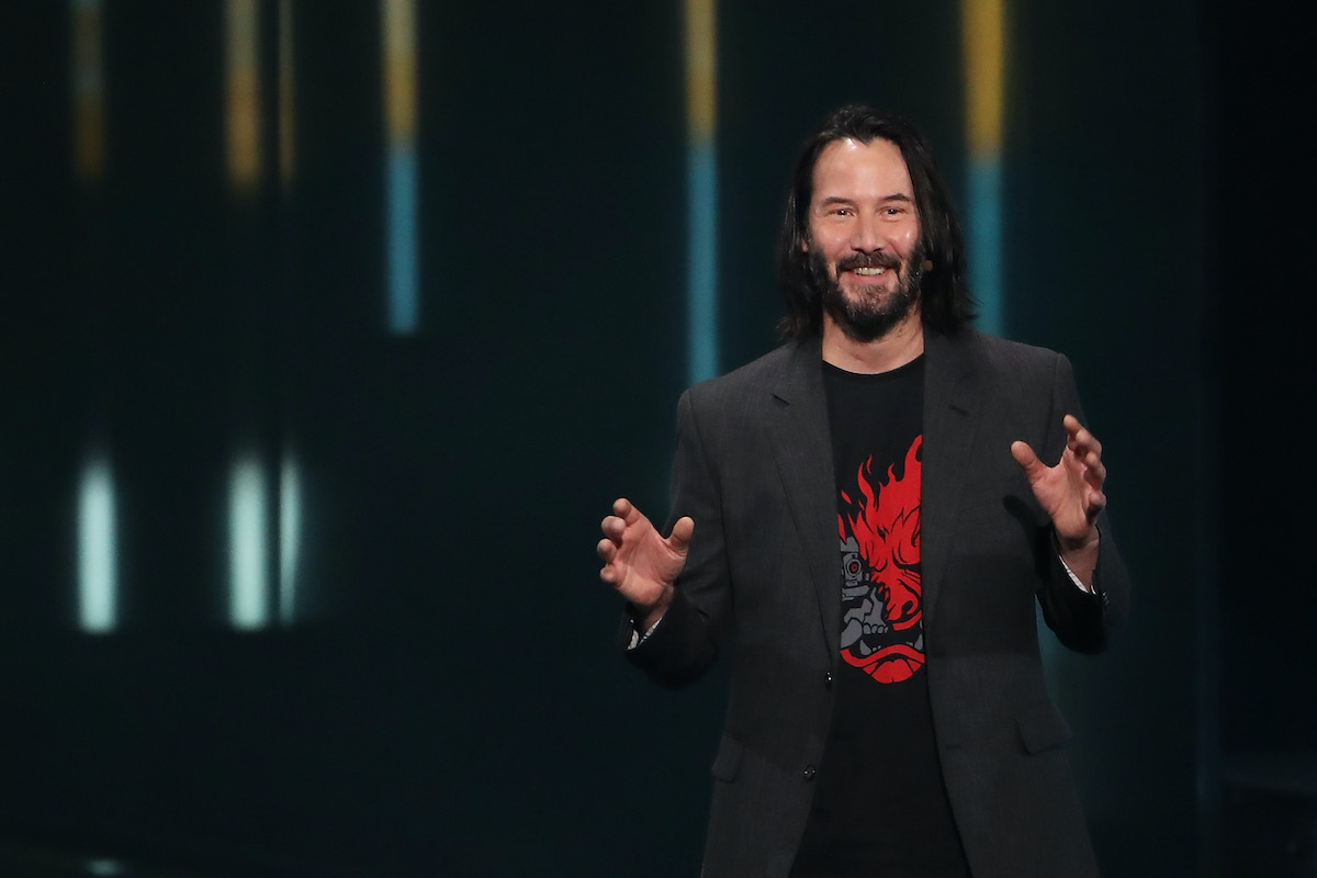 Keanu Reeves speaks about 'Cyberpunk 2077' at the Xbox E3 2019 Briefing