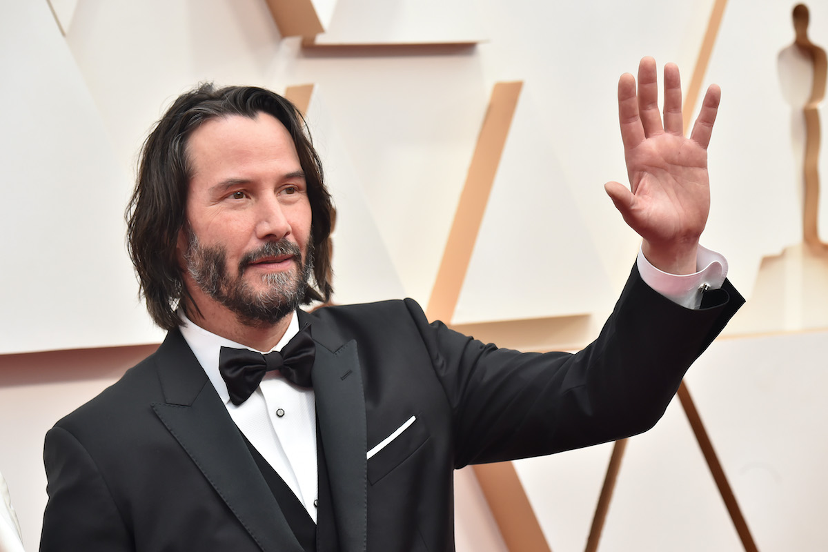 Keanu Reeves attends the 92nd Annual Academy Awards at Hollywood in 2020