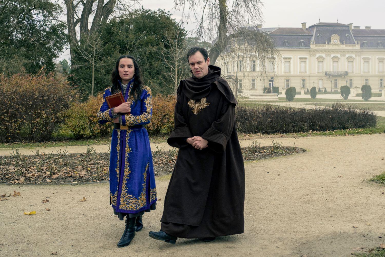 L-R JESSIE MEI LI as ALINA STARKOV and KEVIN ELDON as THE APPARAT in SHADOW AND BONE