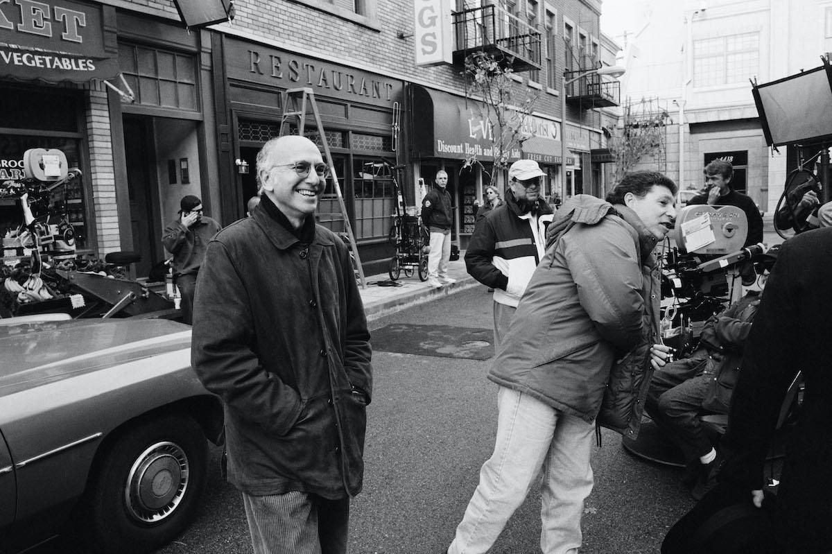 Larry David on the set of 'Seinfeld'
