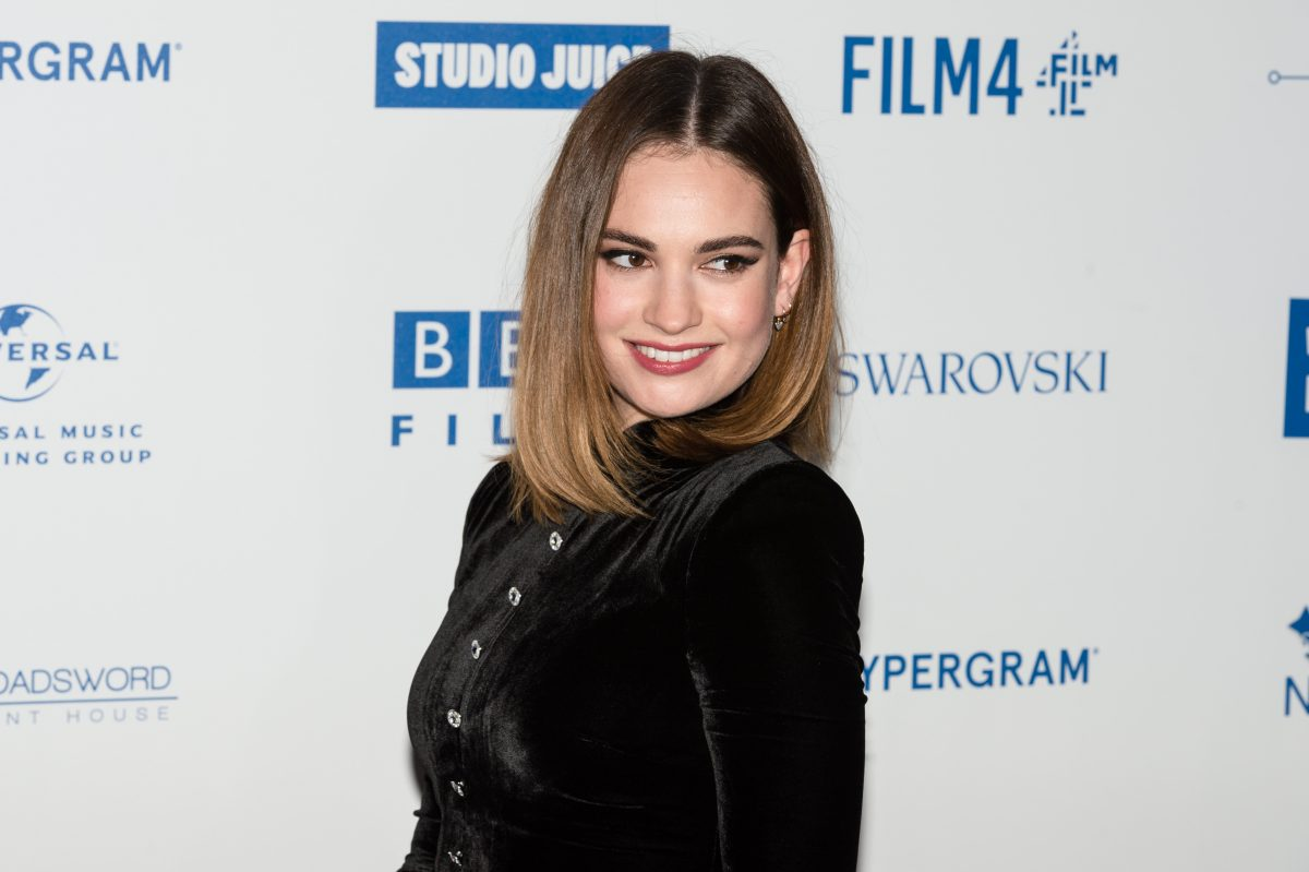 Lily James on the red carpet
