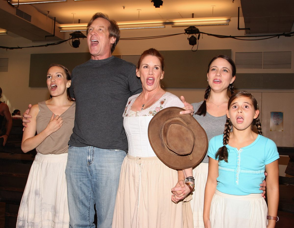 "Melissa Gilbert and cast perform during the ""Little House On The Prairie The Musical"" rehearsal."