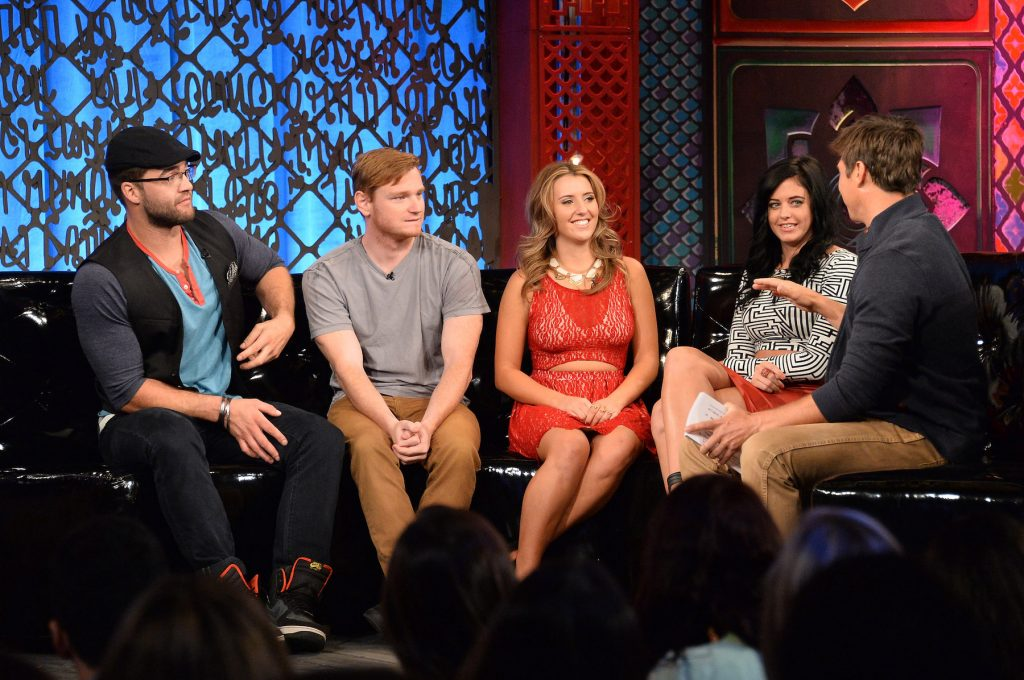 MTV's 'The Challenge' cast sitting at the 'Rivals II' reunion talking to each other