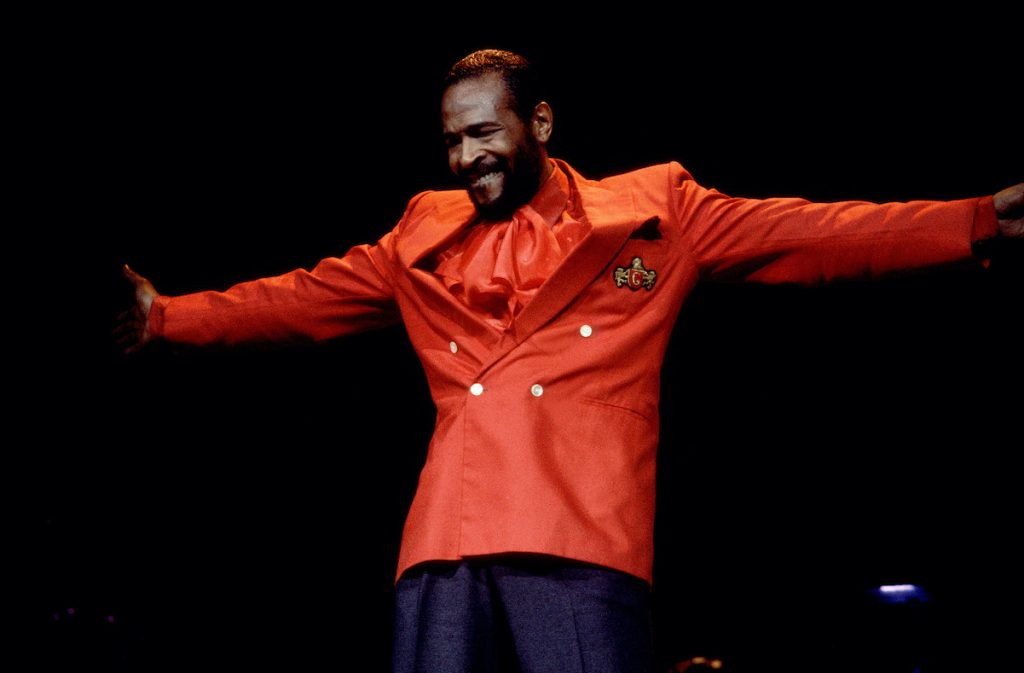 Marvin Gaye performs in Indiana in 1983