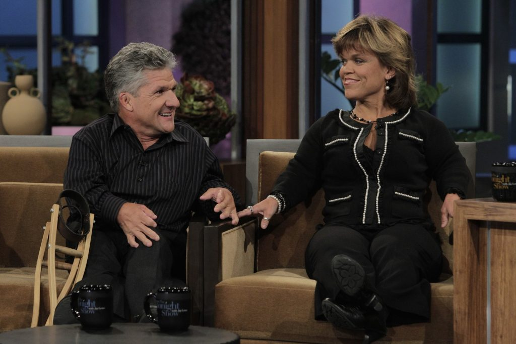 Matt and Amy Roloff from 'Little People, Big World' sitting next to each other during an interview