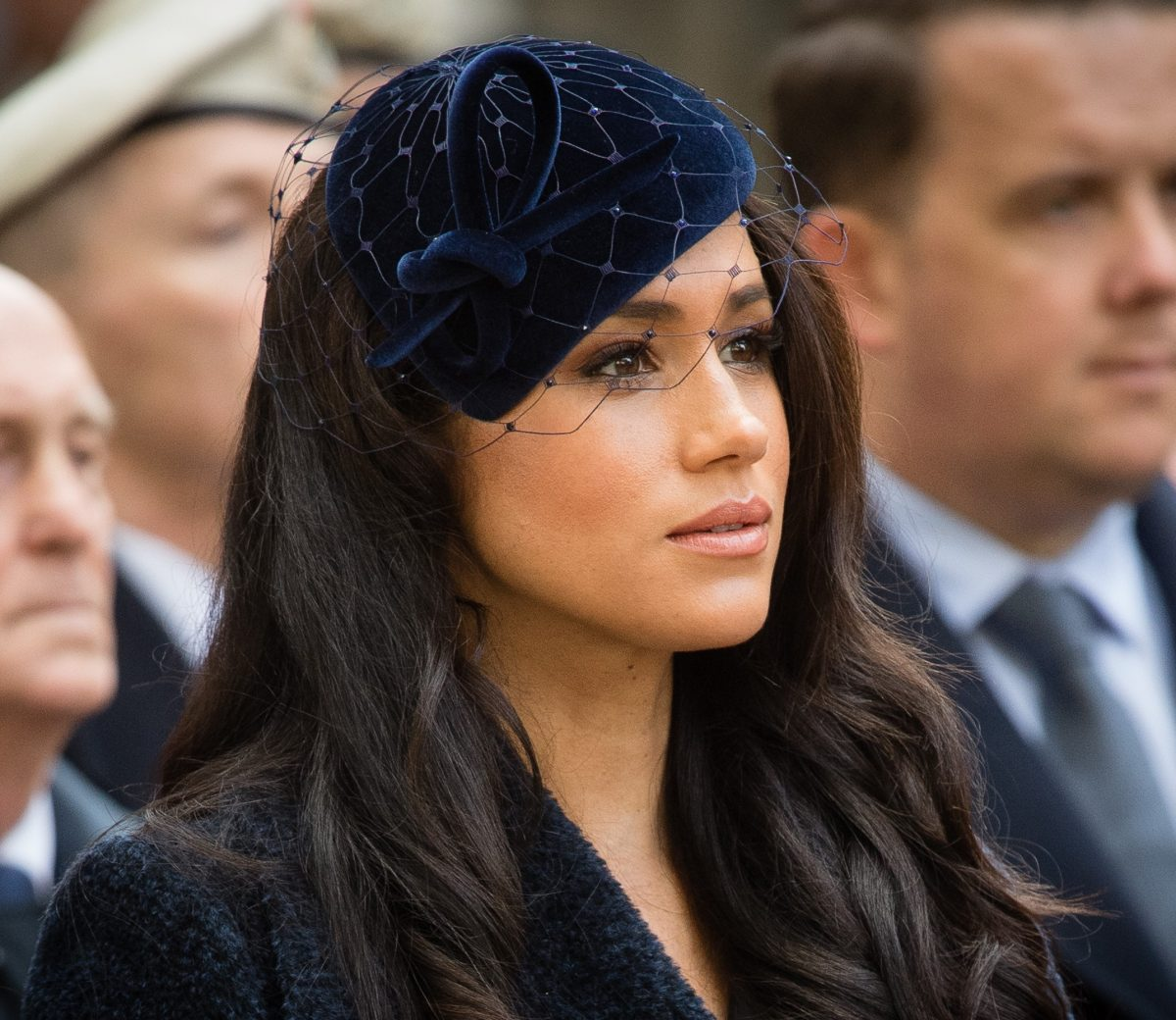 Meghan Markle somber during Remembrance at Westminster Abbey