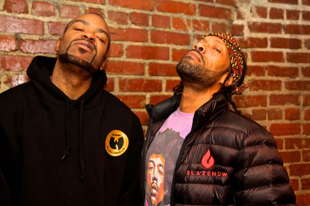 Red Man and Method Man perform at The Norva make faces for the camera
