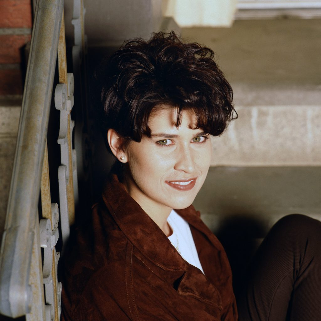 Actor Nancy McKeon as Annie O'Donnell in the CBS sitcom 'Can't Hurry Love' in 1995